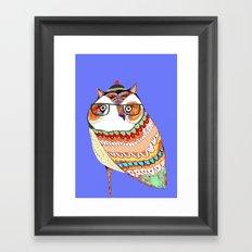 Owl, owl art, owl illustration, owl print,  Framed Art Print