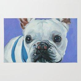 French Bulldog Portrait Painting Rug