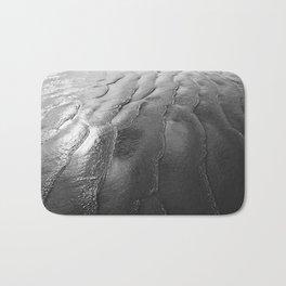 Black and White Waves Bath Mat