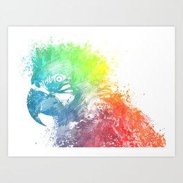 Parrot Ara Art Print