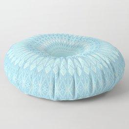 Ice Star Mandala Floor Pillow