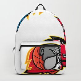 American Football and Basketball Wildlife Sports Mascot Collection Backpack