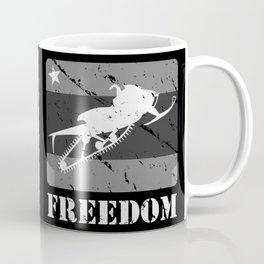 FREEDOM! Snowmobile Coffee Mug