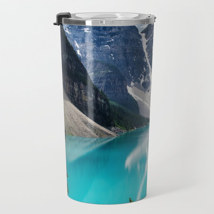 Lake Moraine Banff Travel Mug