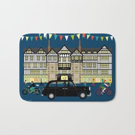Art Print of Liberty of London Store - Night with Black Cab Bath Mat