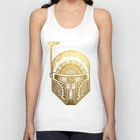 gold foil Tank Tops featuring Mandala BobaFett - Gold Foil by Spectronium - Art by Pat McWain