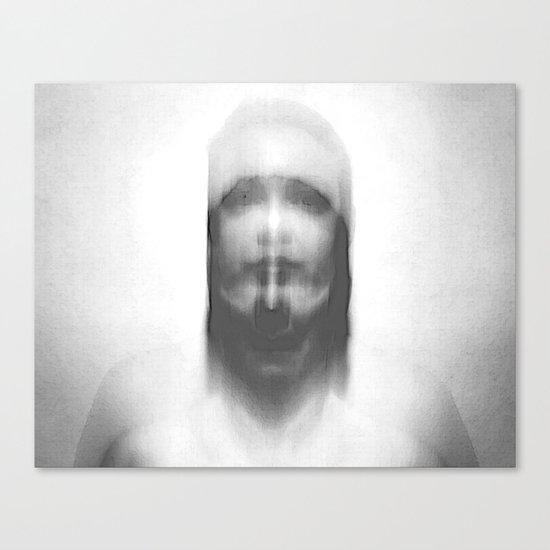 double exposure portrait Canvas Print