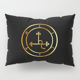 Sigil of Lilith- Female demon Lilith symbol in gold Pillow Sham