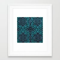 celtic Framed Art Prints featuring celtic blue by Ariadne