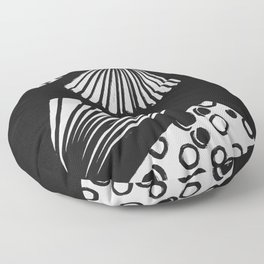 wavy circle pattern design Floor Pillow