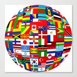 Flag World Canvas Print