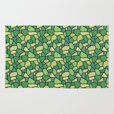 Stained Glass Green Rug