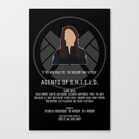 agents of shield Canvas Prints featuring Agents of S.H.I.E.L.D. - May by MacGuffin Designs