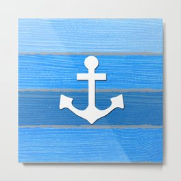 Nautical themed design Metal Print