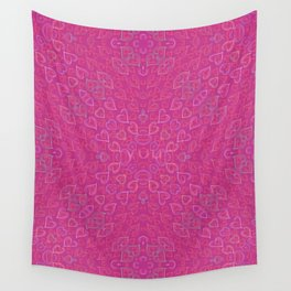 Flowery hearts Wall Tapestry