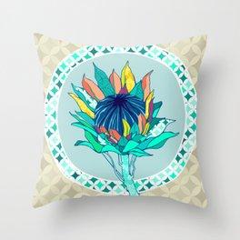 Bohemian Banksia Throw Pillow