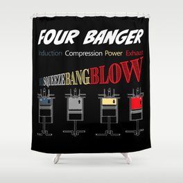 FOUR STROKE CYCLE Shower Curtain
