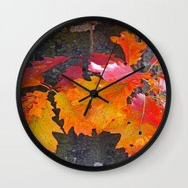 glowing autumn Wall Clock