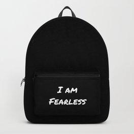 I AM FEARLESS BLACK Backpack