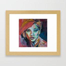 Jennifer Lawrence Framed Art Print