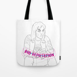Joan Jett Sketch Tote Bag
