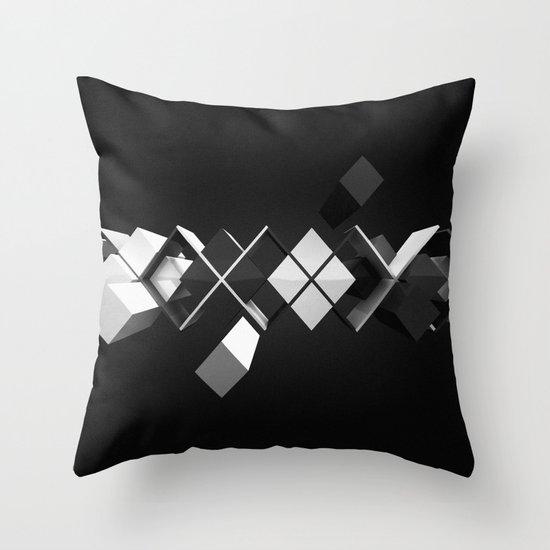 Argyle Deconstruction Throw Pillow
