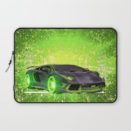 Tronic Green Sports Car Laptop Sleeve