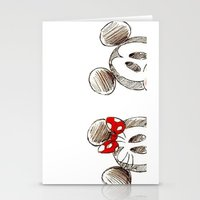 minnie mouse Stationery Cards featuring Mickey and Minnie Mouse.  by Christa Morgan ☽