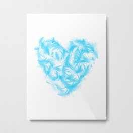 Feathers heart Metal Print