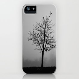 Foggy Silhouettes. iPhone Case