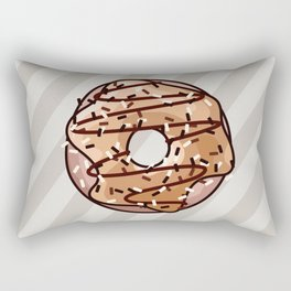 Toffee and Chocolate Donut Rectangular Pillow