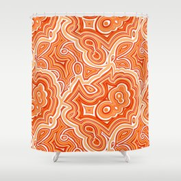 Red Agate Shower Curtain