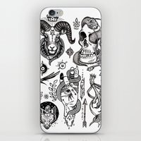 alchemy iPhone & iPod Skins featuring Lesser Alchemy by Polkip