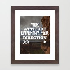 Your Direction Quote Framed Art Print