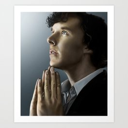 Sherlock in thought Art Print