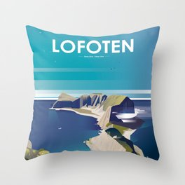 Alone In Nature - Deep Blue Deep View Throw Pillow