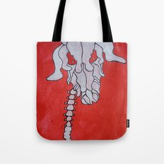 Skelleton head Deer Tote Bag