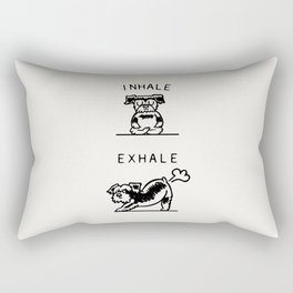 Inhale Exhale Schnauzer Rectangular Pillow