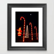 Holiday display Framed Art Print