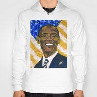 obama Hoodies featuring Obama by Stan Kwong