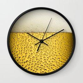 Beer Bubbles 1 Wall Clock