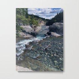 Elbow Falls 3 Metal Print