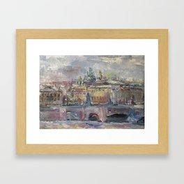 Oil Painting On Canvas City Landscape Artwork Impressionism Cozy Home Decor Bedroom Decoration Framed Art Print