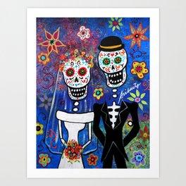 Mexican Folk Art Wedding Painting Art Print