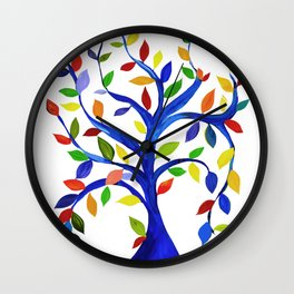 Tree with bright leaves Wall Clock