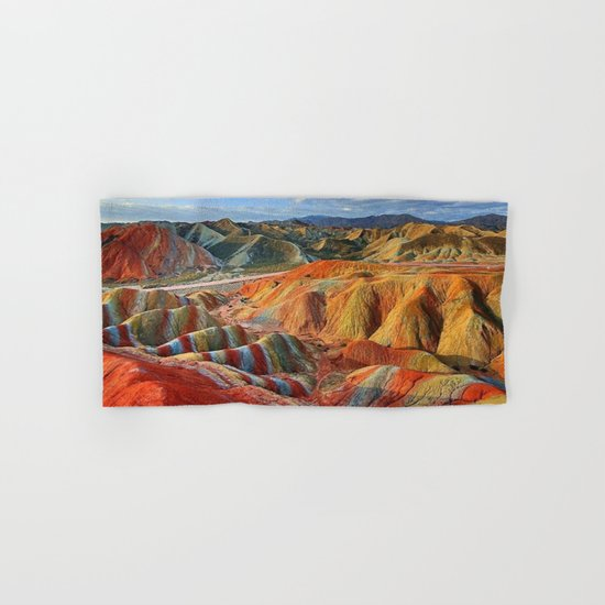 colours mountains Hand & Bath Towel