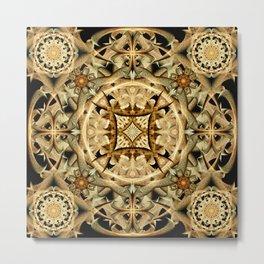 Desert Sands Mandala Metal Print