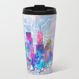 indianapolis city skyline watercolor 2 Travel Mug