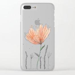 flor naranja Clear iPhone Case