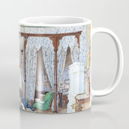 Franz Alt - A writing room in the Vukovar Castle of the Counts of Eltz, Slavonia - Digital Remastered Edition Coffee Mug